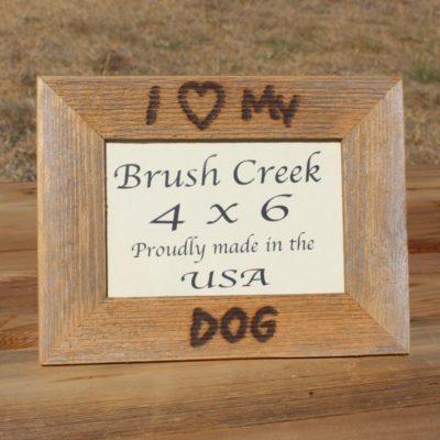Branded Picture Frame I Love My Dog