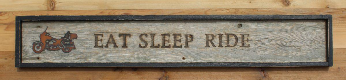 Branded Wall Sign Eat Sleep Ride
