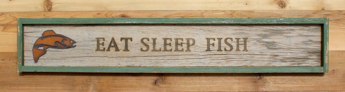 Branded Wall Sign Eat Sleep Fish