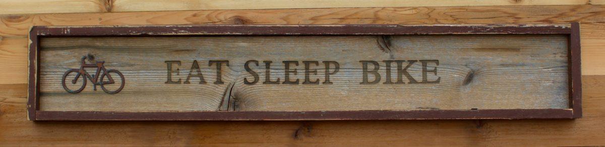 Branded Wall Sign Eat Sleep Bike