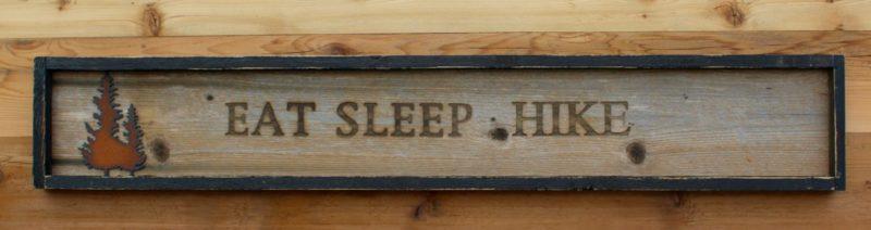 Branded Wall Sign Eat Sleep Hike