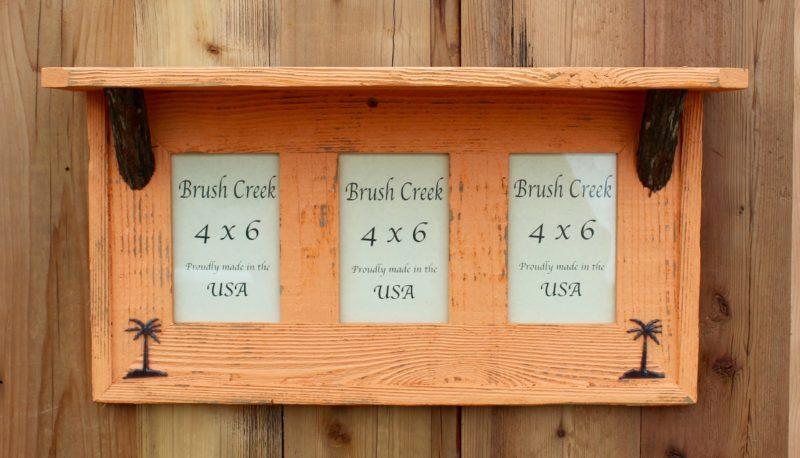 Rustic Triple 4 x 6 shelf Beach Orange