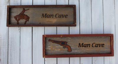 Branded Man Cave Sign