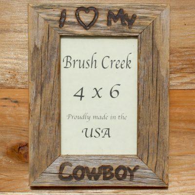 Frame Branded I Love My Cowboy