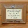 Branded 'First Deer'